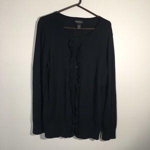 Lane Bryant Black Button Up Sweater SZ 14/16W